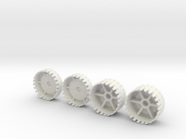 Echotransformer Hercules Upgrade V5  wheels only in White Natural Versatile Plastic