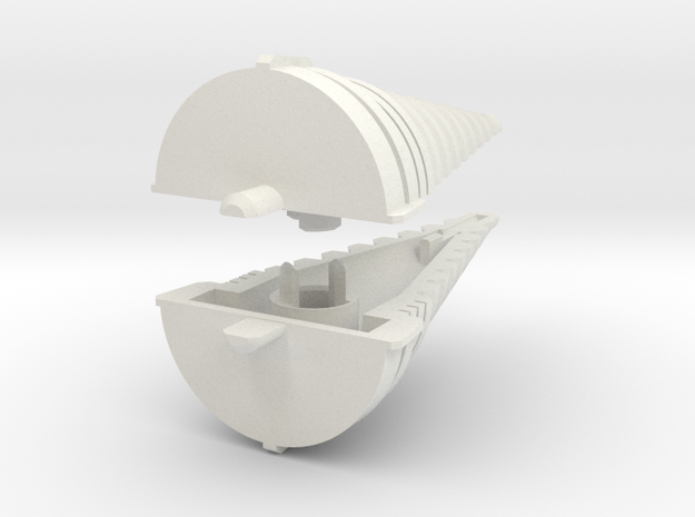 Echotransformer Hercules Upgrade V5  drill only in White Natural Versatile Plastic