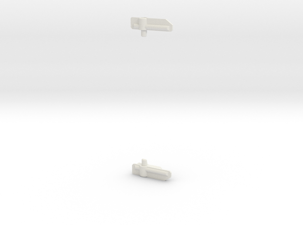 Echo Herc Kit V5 Wing Extensions Only in White Natural Versatile Plastic