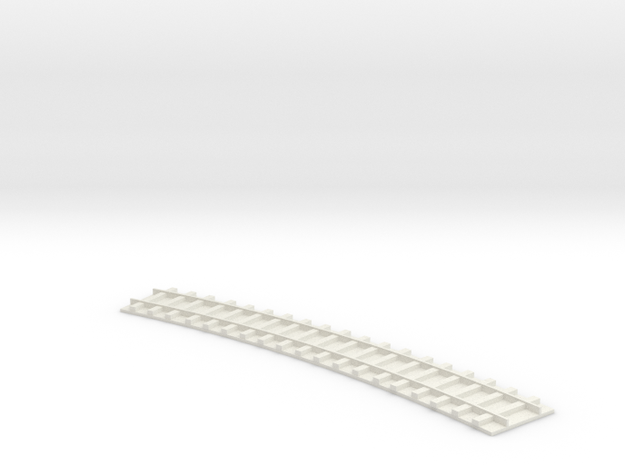 Curved Single Track / Gebogenes einfaches Gleis 1/ 3d printed