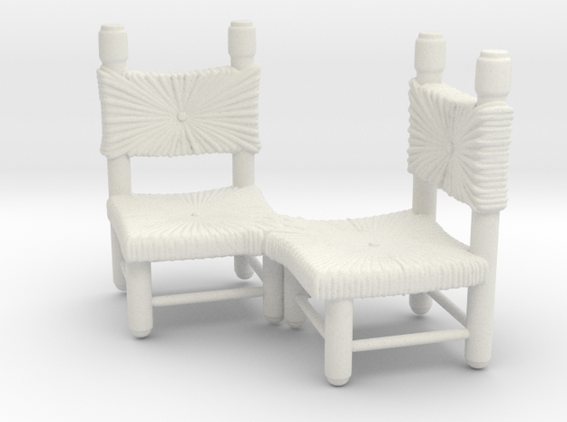 Chairs in White Strong & Flexible