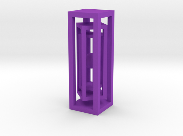 Ball in three cages 3d printed