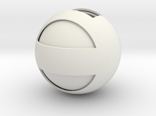 Sphere Case in White Natural Versatile Plastic