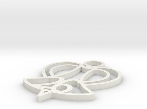 26 Angels Ornament in White Natural Versatile Plastic