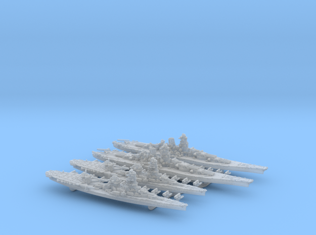 WWII IJN Late-war BB Yamato & BBCV Ise in Smooth Fine Detail Plastic: 1:4800