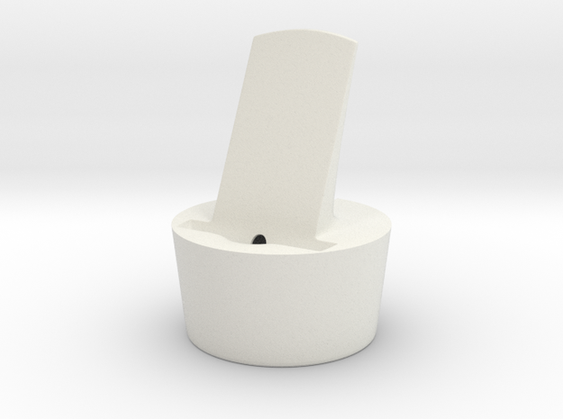 iPhone5 Cup Holder Dock - cable needs to be glued  in White Natural Versatile Plastic