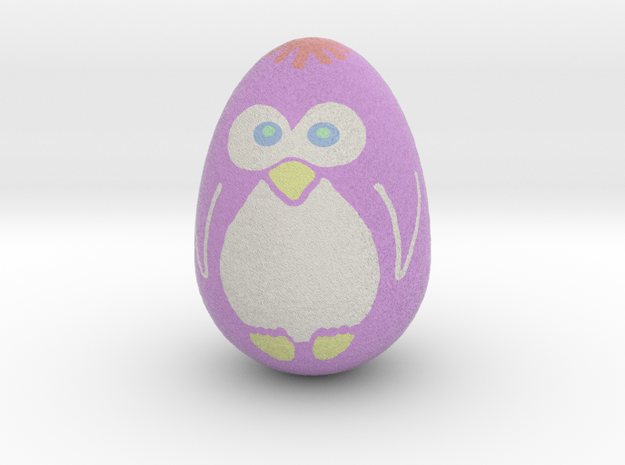 Egguin (Created using Magic 3D Easter Egg Painter) 3d printed