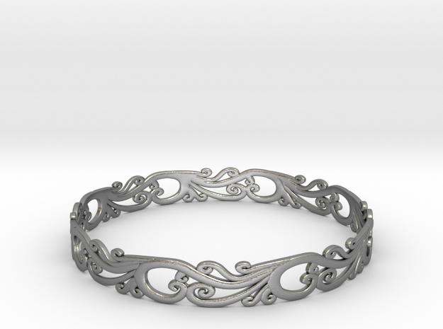Silver Filigree Bracelet - Medium 3d printed
