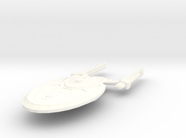 USS Union in White Strong & Flexible Polished