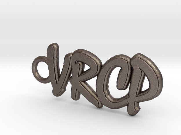 print vrcp logo in Polished Bronzed Silver Steel