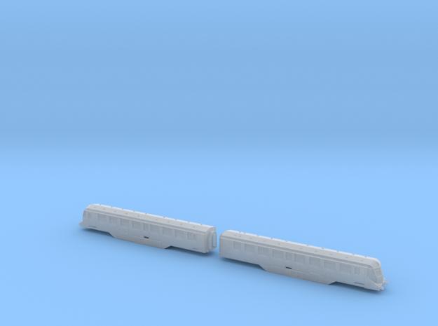 GWR Railcar - Twin Car Set - T - 1:450 in Smooth Fine Detail Plastic