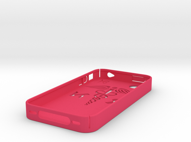 iPhone 4/4S case with RN logo 3d printed