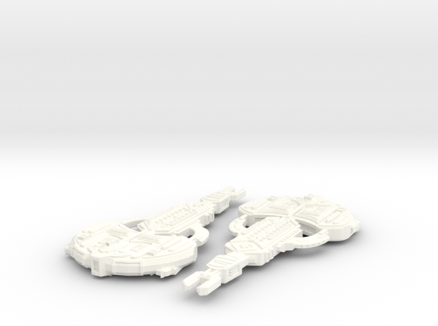 Cardassian Turon Class in White Processed Versatile Plastic