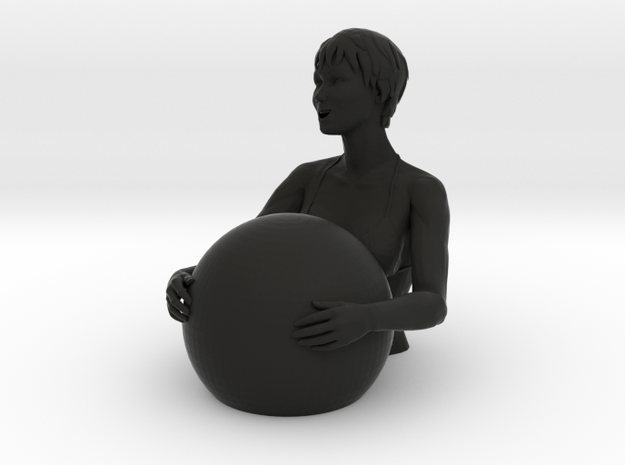 Bathers girl 3d printed