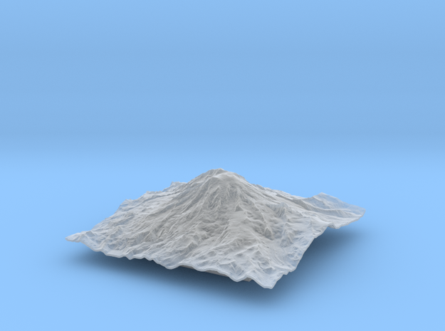 6'' Mt. Rainier Terrain Model, Washington, USA 3d printed