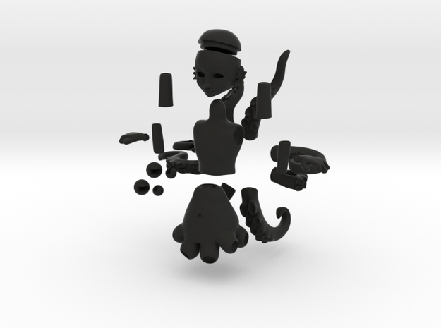 Octoling Littling (newest) 3d printed