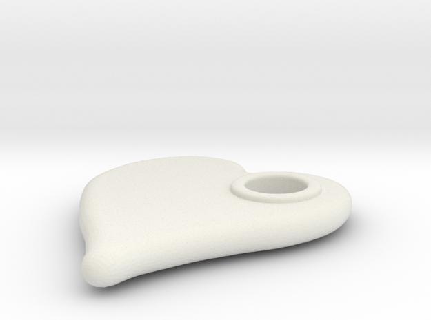 Merged Skin Cylinder3D2 deci in White Natural Versatile Plastic