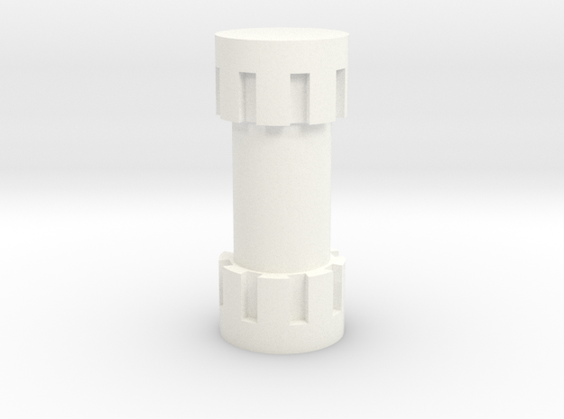 1/18 Isotope Canister in White Processed Versatile Plastic