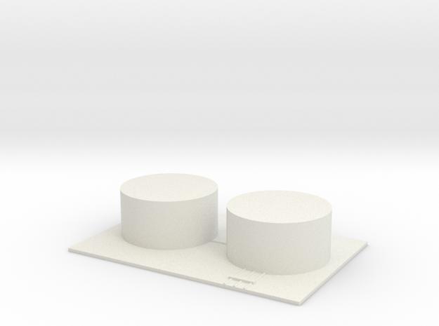 1/700 Fuel Tank Farm (x2) in White Natural Versatile Plastic