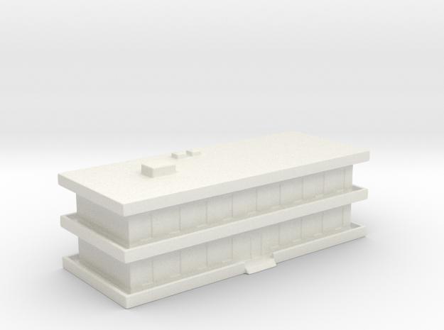 1/700 Barracks in White Natural Versatile Plastic
