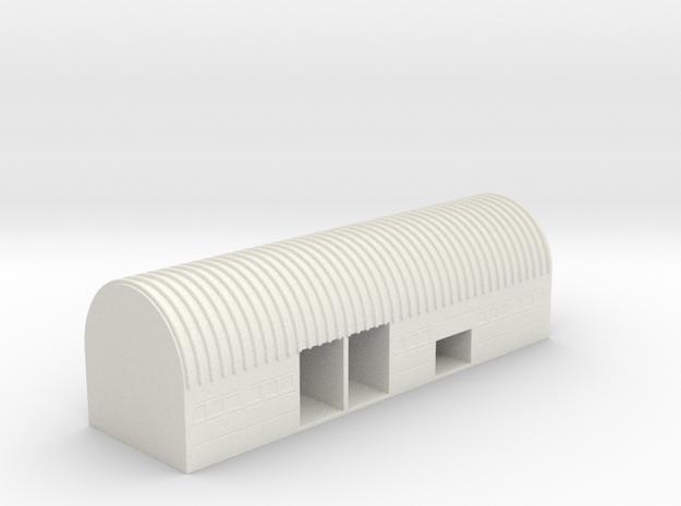 1/700 Mobile ICBM Storage Building in White Natural Versatile Plastic