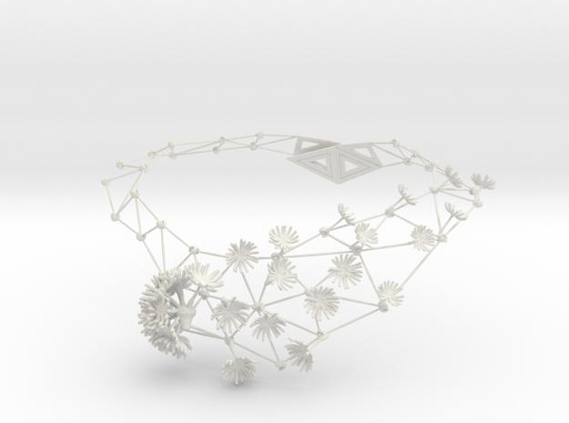 New Dandelion Necklaces in White Natural Versatile Plastic
