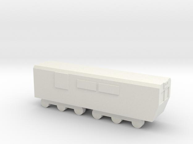 1/700 North Korean Locomotive in White Natural Versatile Plastic