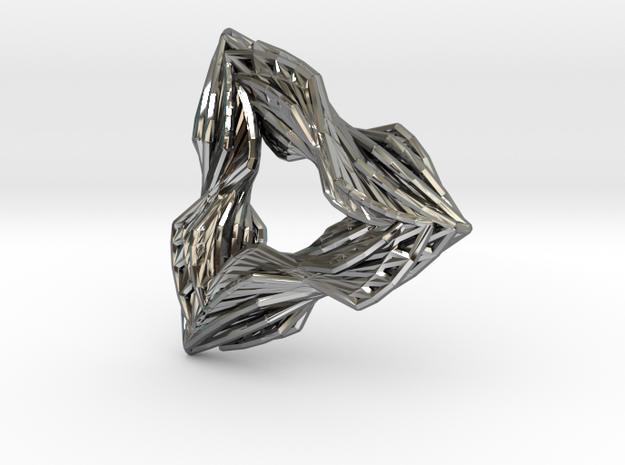 Lucious Geometry in Fine Detail Polished Silver