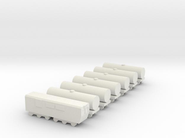 1/700 Oil Cargo Train Set in White Natural Versatile Plastic