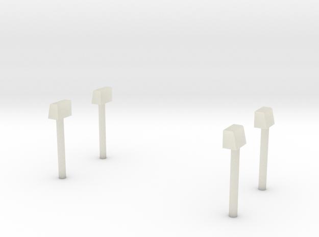 Blaulichter für Econic Aufbauten-Hinten in Transparent Acrylic