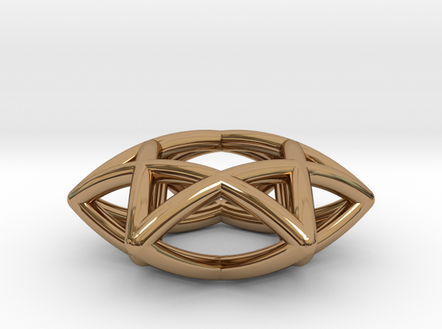 Star Of David Pendant in Polished Brass