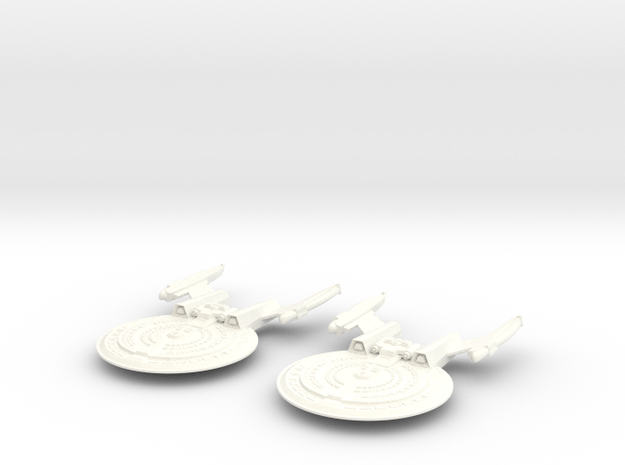 2 HARBINGER CLASS VESSELS in White Strong & Flexible Polished
