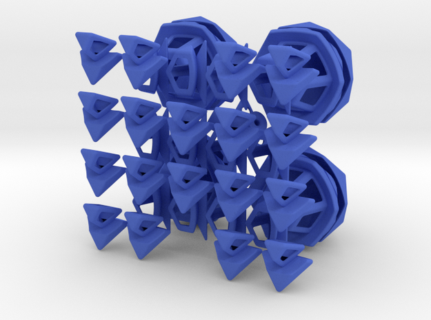 Fractured Tetrahedron Puzzle 3d printed