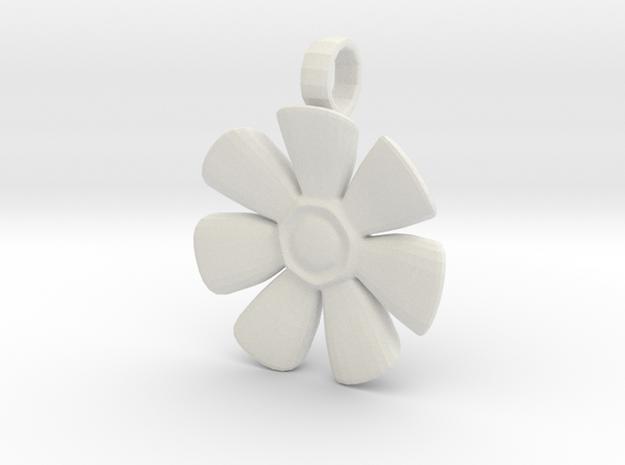 Flower Charm in White Strong & Flexible
