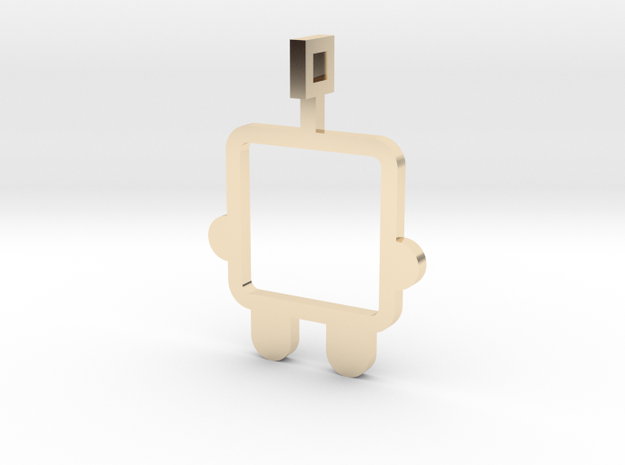 made with love - small robot in 14K Gold