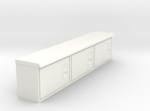 Rockin H Service Bed Cabinets in White Processed Versatile Plastic