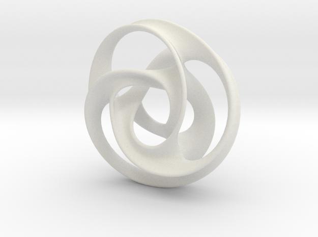 large trefoil mobius torus 3d printed