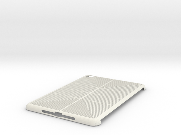 iPad Mini Lines Case in White Strong & Flexible