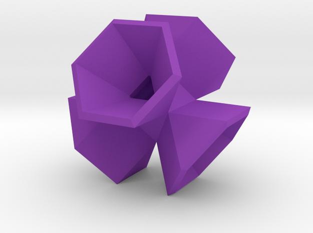 Hexagon Flower Pendant 3d printed