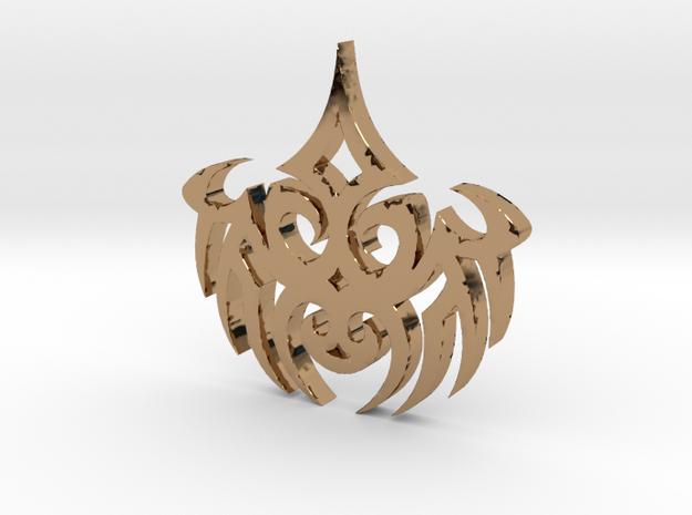 WhiteHAwk Tribal Necklace #2 in Polished Brass