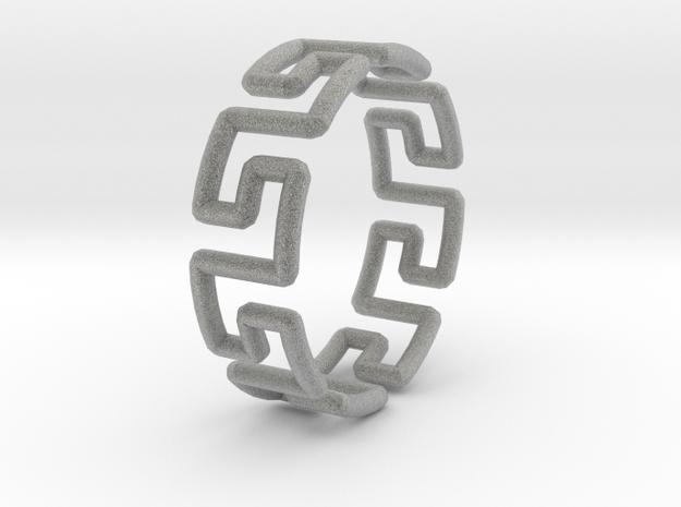 Greek Ring 3d printed