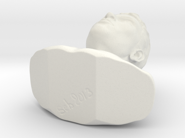 Bust Head04 in White Strong & Flexible