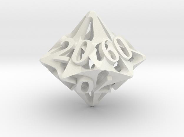 Pinwheel Die10 Decader Ornament in White Natural Versatile Plastic
