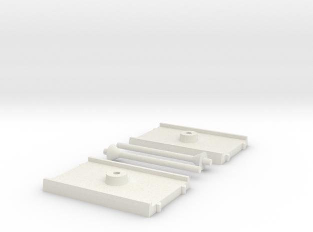 2x Shuttle Size Base in White Natural Versatile Plastic