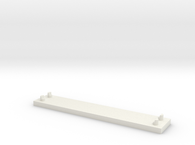 JOINER, DOUBLE TRACK in White Natural Versatile Plastic