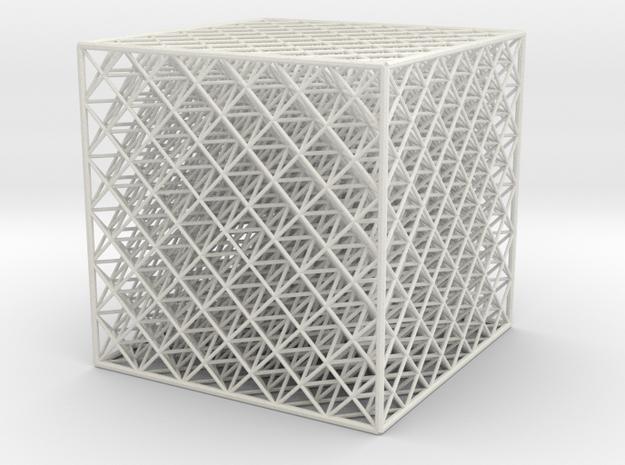 Octet Truss Cube (6x6x6) 3d printed