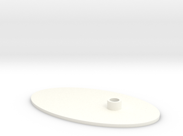 Flat Stand  in White Processed Versatile Plastic