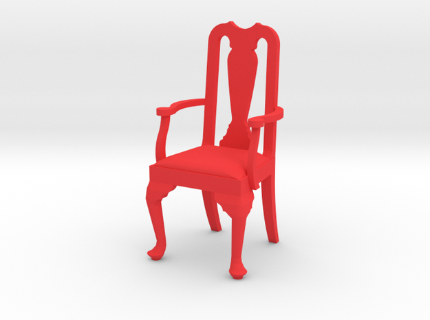 1:24 Queen Anne Chair with Arms 3d printed