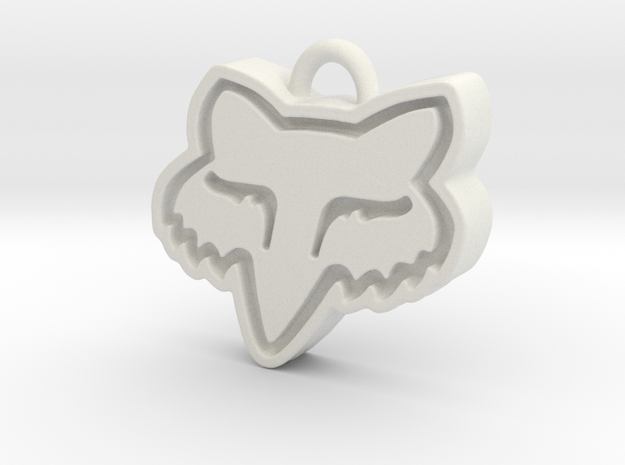 Charming Fox Racing Logo in White Natural Versatile Plastic