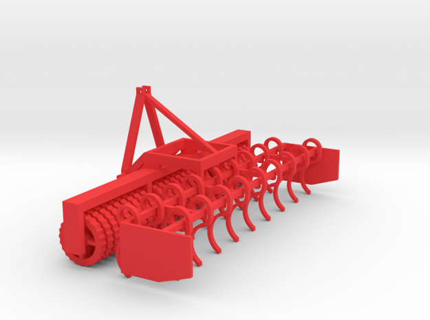 Frontcultivator 1/32 Model in Red Strong & Flexible Polished